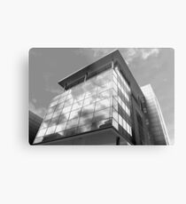 Highrise in Glass Metal Print