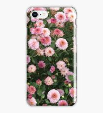 Beautiful pink flower field iPhone Case/Skin