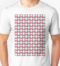Red Turquoise Winter Pattern T-Shirt