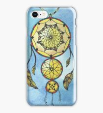 Dreamcatcher watercolor and ink doodling  iPhone Case/Skin