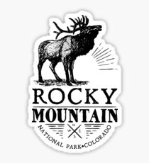 Rocky Mountain National Park Colorado Elk Outdoors Nature Climbing Hiking Sticker