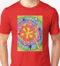 2403 - Flowers, Stars and Lightning T-Shirt