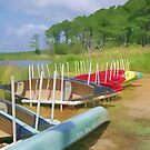 Canoes at Rest by Eileen McVey