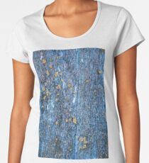 Wood texture of rotten tree trunk, close-up, texture, background Women's Premium T-Shirt