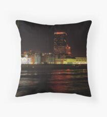 Atlantic City NJ - Ballys on the Boardwalk at night Throw Pillow