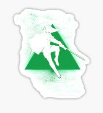 Silhouette Green Sticker