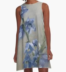 Rest • Floral Painting by Rebecca Finch A-Line Dress