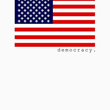 democracy flag white by democracy