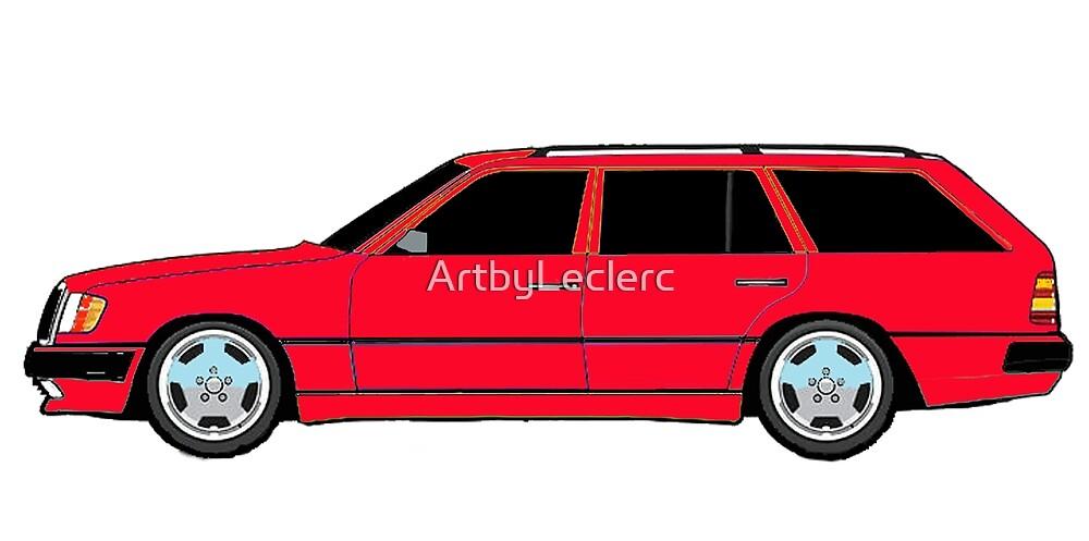 Mercedes W124-300TE Estate  by ArtbyLeclerc