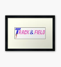 Track & Field - NES Title Screen Framed Print