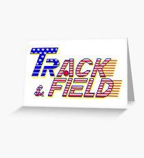 Track & Field - Arcade Title Screen Greeting Card