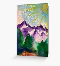Purple Mountain Majesty  Greeting Card