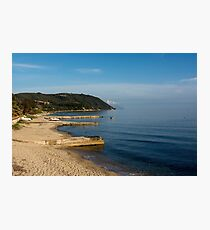 Beautiful coastline with mountains and rocks in Greece Photographic Print