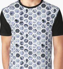 Grey hexagons Graphic T-Shirt