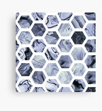 Grey hexagons Canvas Print