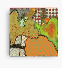 crazy fall abstract Canvas Print