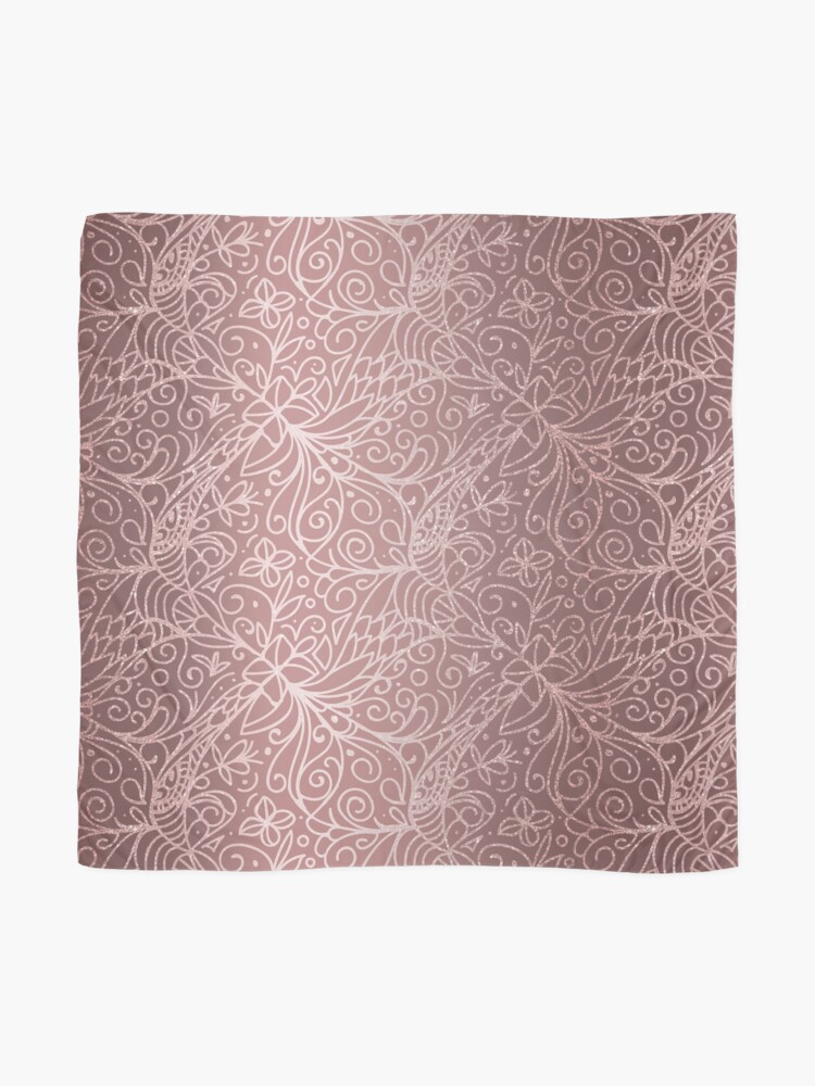 Alternate view of Dusty Rose Gold Floral Garden Pattern Scarf
