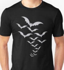 Cool Graphic Design Flock of Bats Halloween T-Shirt