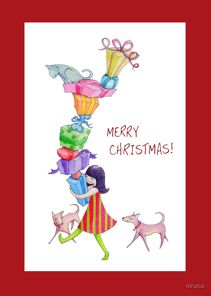 Gifts Girl Christmas by Mariana Musa