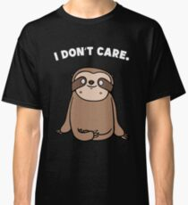 Sloth Lazy DontCare Relax Classic T-Shirt