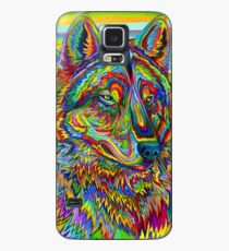 Colorful Psychedelic Rainbow Wolf Case/Skin for Samsung Galaxy
