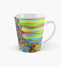 Colorful Psychedelic Rainbow Wolf Tall Mug