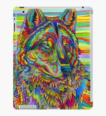 Colorful Psychedelic Rainbow Wolf iPad Case/Skin
