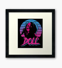 doll killer horror halloween ALIEN EIGHTEES 1980 STYLE COLORFUL Framed Print
