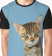 European Shorthair Kitten Watercolor Painting Graphic T-Shirt