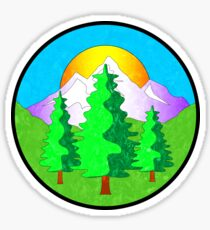 Nature Outdoors Forest Mountains Woods Explore Hiking Sticker