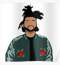 Weeknd Roses Poster