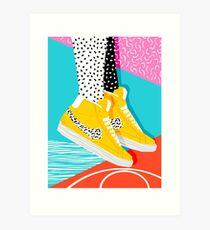 Kid You Not - Memphis retro Schuhe Mode Rückblende 80er Jahre Stil Trends minimalistischen Kunst Neon Kunstdruck