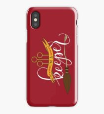 White 'I'm A Keeper' Pun - Red iPhone Case