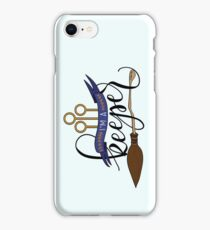 Black 'I'm A Keeper' Pun - Blue iPhone Case/Skin