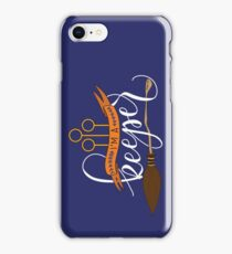 White 'I'm A Keeper' Pun - Blue iPhone Case/Skin