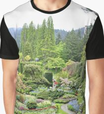 Butchart Gardens on a Very Wet Day in May 2017 Graphic T-Shirt