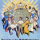 World Youth Festival 1951, East German World Festival Propaganda Poster 1951 by Remo Kurka