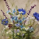 Tenacious • Floral Painting by Rebecca Finch by Rebecca Finch