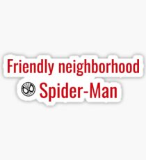 Friendly Neighborhood Spider-Man Sticker