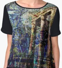 Paths of Old Women's Chiffon Top