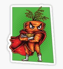 The Angry Carrot / Foodietoon SuperHero Sticker