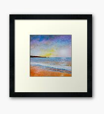 Fistral Beach Sunset Framed Print