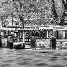 Hayes Island Snack Bar Cardiff  Mono by Steve Purnell