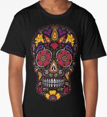Day of the Dead Sugar Skull Dark Long T-Shirt
