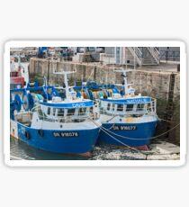 Twin Fishing Boats - David & Nathalie - La Turballe, Loire Atlantique, France Sticker