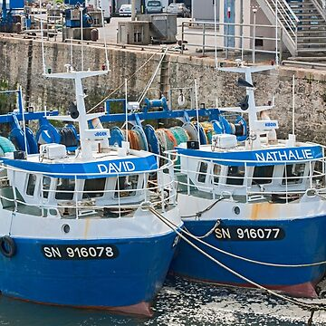 Twin Fishing Boats - David & Nathalie - La Turballe, Loire Atlantique, France by Buckwhite