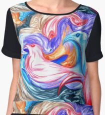 BIRDS Women's Chiffon Top