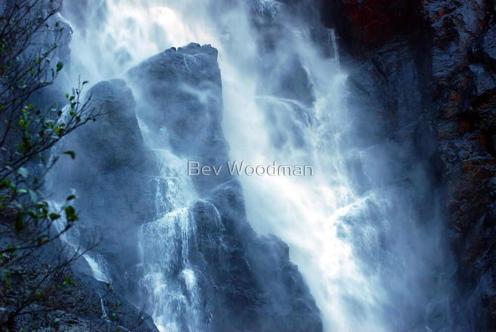 Ellenborough Falls NSW - Midway by Bev Woodman