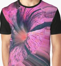 Unusual Flower in Pink Graphic T-Shirt