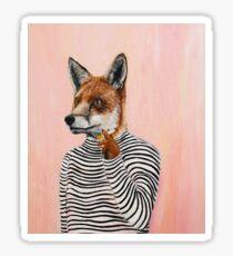 Smoking Fox  Sticker